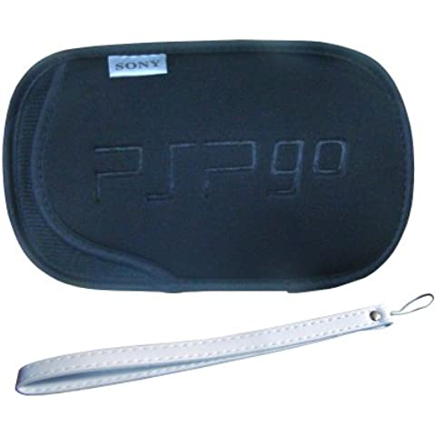 Generic Protector Soft Pouch Case Bag + Strap Compatible for Sony PSP GO N1000 [Importación