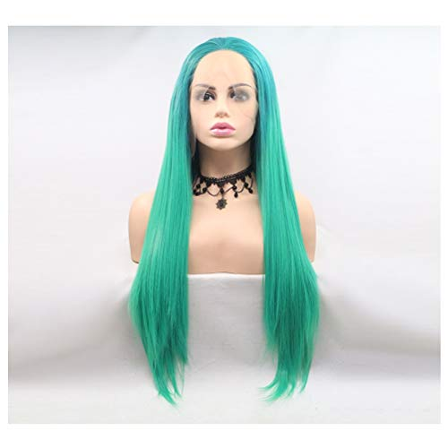 Disco Kostüm Heat - Perücke Jcy Frau, Lange Natürliche Synthetische Lace Front Erwachsenen Kostüm Glänzend Metallfolie Halloween Karneval Disco Wigs