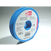 Efco Polyamide Thread tensile Force Approx. 0,9 kg ø 0,15 mm 100 m Clear, 12 x 5 x 2 cm