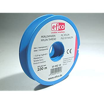 EFCO Nylon Beading Wire Thread Clear Fishing Wire Monofilament 0.15mm x 100m