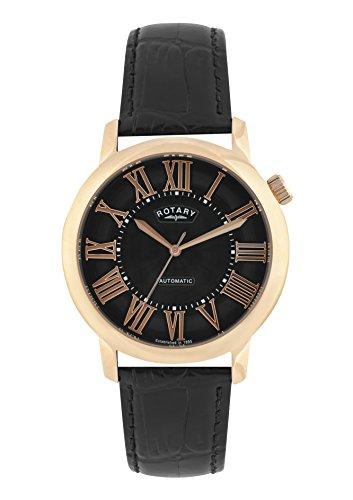 Rotary Herren Uhr Automatik Mit Leder Armband GLE000012/10S