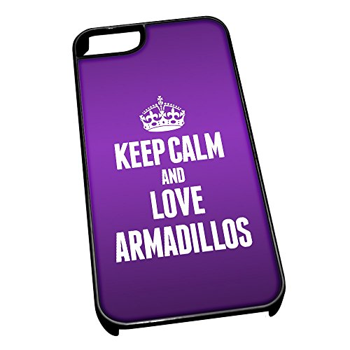 nero-cover-per-iphone-5-5s-motivo-keep-calm-and-2391-love-armadilli