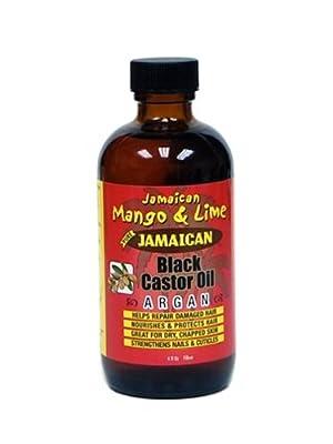 JAMAICAN MANGO & LIME BLACK CASTOR OIL WITH ARGAN FOR DAMAGE HAIR 4oz by Jamaican Mango & Lime