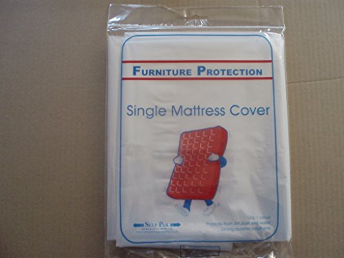 MATTRESS COVER Single for Moving or Storage (Large Polythene Bag)