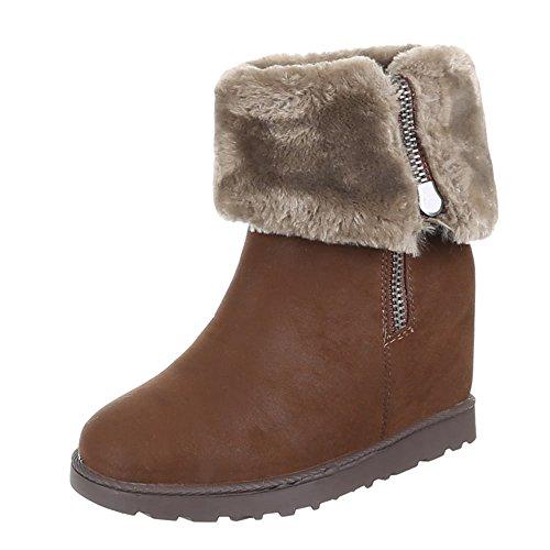 Chaussures, b bottines 2608–1 Marron - Marron