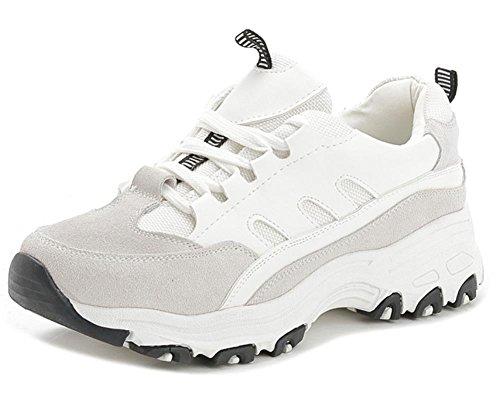 Scarpe sportive donna pizzo scarpe casual scarpe da corsa ascensore Autunno Ms. Grey