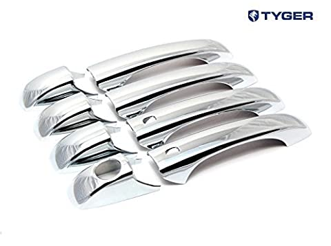 TYGER ABS Triple Chrome Plated Door Handle Cover 11-14 Dodge Durango/Jeep Grand Cherokee 4 Doors With Samrt Keyhole No Passenger Keyhole by Tyger Auto
