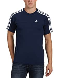 adidas Essentials Crew T-Shirt Homme Colnav/Blanc UK : 44-46 (Taille Fabricant : S)