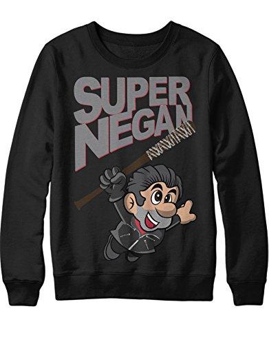 Kostüm Carol Twd - Sweatshirt TWD Mario Mashup SUPER Negan C1112355 Schwarz XXL