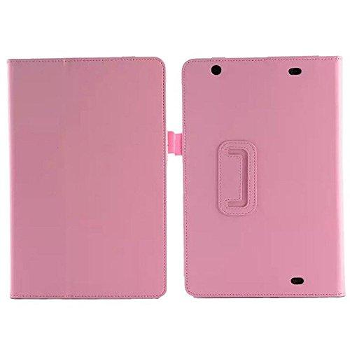1x Bildschirmschutzfolie Klar, Ultra Slim Folio Ständer Leder Schutzhülle mit Auto Sleep/Wake-Funktion für LG G Pad 10.1V700/VK700LTE Verizon 25,7cm Tablet 2-Pink