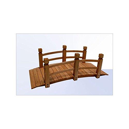 Holz - Gartenbrücke 148 cm Rot-Braun