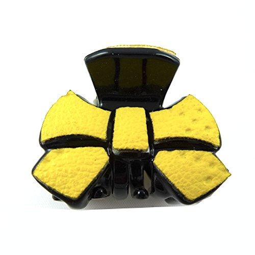 rougecaramel - Accessoires cheveux - Mini pince crabe cheveux fantaisie 2.5cm - jaune