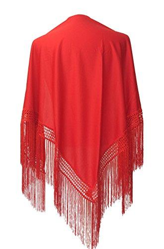 La Señorita Mantones bordados Flamenco Manton de Manila rojo