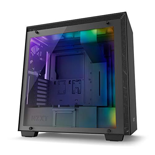 NZXTH700i - ATX-Mid-Tower-Gehäuse für Gaming-PCs - SmartDevice mit CAM-Unterstützung - RGB- und Lüftersteuerung - Tempered Glass Fenster  - Verbessertes Kabelmanagementsystem - Schwarz Pc-cam