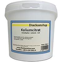 Kaliumcitrat Monohydrat 500g - Kaliumgehalt 36% - Pharmaqualität mind. 99% - Pulver - E332