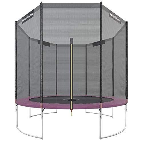 Ultrasport Komplettset inklusive Sprungmatte Gartentrampolin, Pink, 305 cm