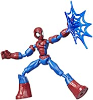 Marvel Spider-Man Bend and Flex Spider-Man Action Figure, 6-Inch Flexible Figure, Includes Web Accessory, Ages