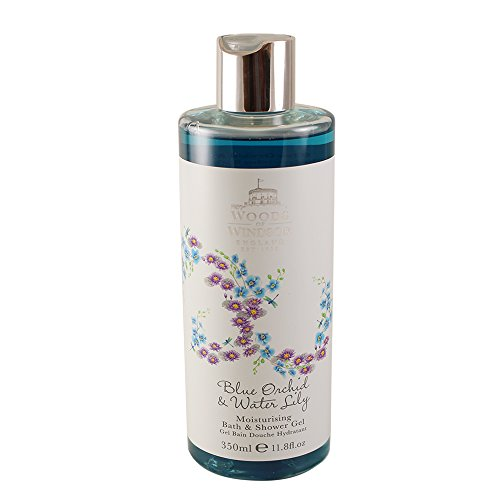 Woods of Windsor Blue Orchid and Water Lily Moisturising Bath and Shower Gel 350 ml, 1er Pack (1 x 150 ml) (Royal Blue Orchids)