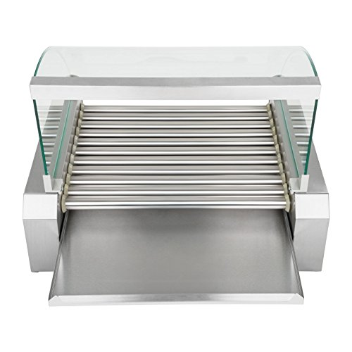Royal Catering – RCHG-11E – Hot Dog Grill / Sausage Grill – 11 heating rods – protection cover -230 V – 2,2 kW