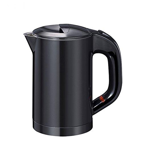 Bouilloire électrique en acier inoxydable portable 0.6L capacité de voyage dédiée Bouilloire électrique noir (Couleur : Noir)