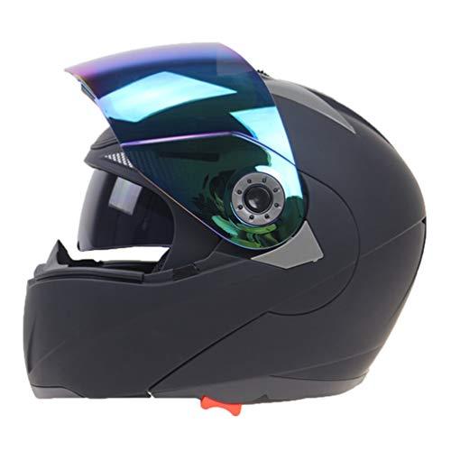 Doppelobjektiv Motorradhelm Multi Funktion Anti Fog Flip Up Motorradhelme Moto Caps für Motocross Racing (Rucksäcke Simpsons)