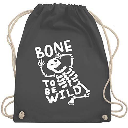 Halloween - Bone to me Wild Halloween Kostüm - Unisize - Dunkelgrau - WM110 - Turnbeutel & Gym - Wild Fashion Kostüm Halloween