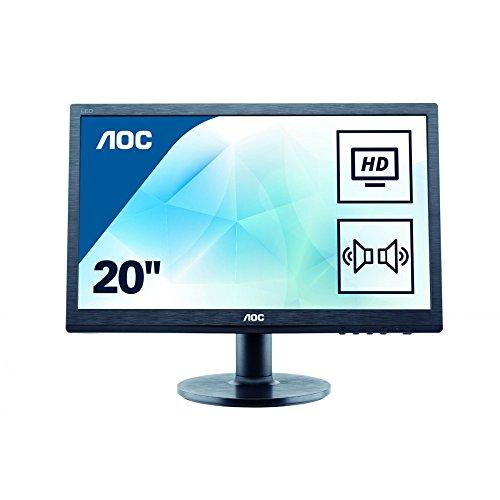 AOC M2060SWDA2 19.5-Inch LCD Monitor (Black) - (3000:1, 250 cd/m², 5 ms, 1920 x 1080, VGA/DVI, Speaker)