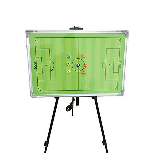 Wanliane-Coaches' Gerüst-Fußball-Taktik-Brett Einfaches Löschen der hochwertigen zusammenklappbaren Trainer-Markierungs-Brett mit Speicher-Beutel mit Markierungs-Stift Taktik-Zwischenablage
