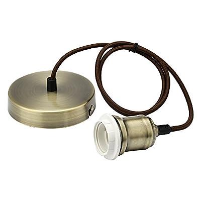 Braided Flex Lamp Holder, Suspended Pendant Light Fitting Kit, Lamp Holder