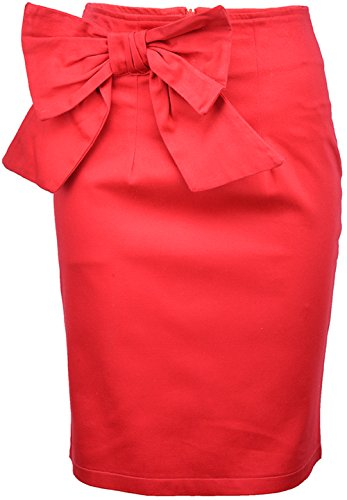 Küstenluder FAYE Schleifen BOW Pencil Skirt / Pin Up ROCK - Rot Rockabilly Intensiver Rotton