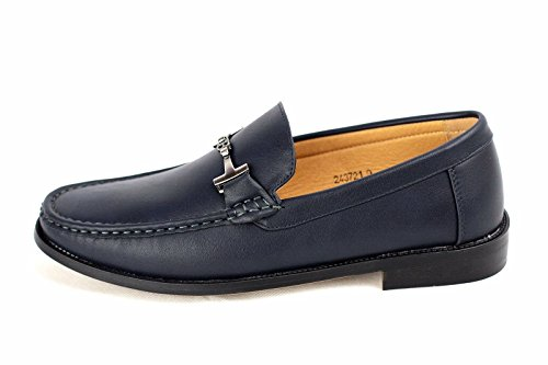 Hommes Conduite Chaussures À Enfiler Mocassins DécontractéÉlégant Mocassins Cuir Bleu Marine