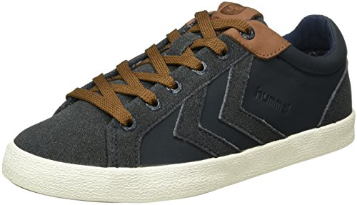 Hummel Unisex-Erwachsene Deuce Court Winter Low-Top Blau (Total Eclipse)