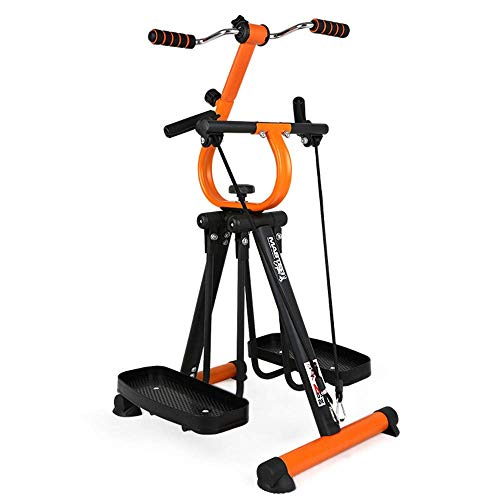 Schwarzer Arm und Bein Falten Air Walk Trainer Fitness Elliptische Stepper Segelflugzeug Gym Home Office - Einstellbarer Widerstand Fitness Rehabilitation Equipment - Senior, Senior Pedal Trainer