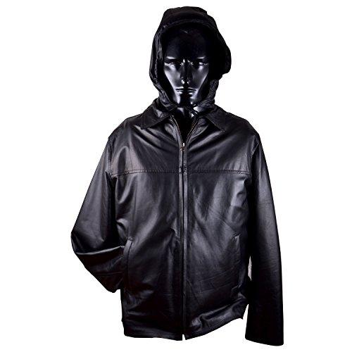 Qtl Quality Men's Furr Lining Multi-Purpose Jacket with Hood - Black