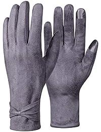 ce5c8083f67398 LeKuni Warme Winterhandschuhe Herren Touchscreen Handschuhe Schwarz Grau  Wildleder fleecefutter