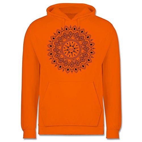 Boheme Look - Boho Mandala Yoga Sketch - Herren Hoodie Orange