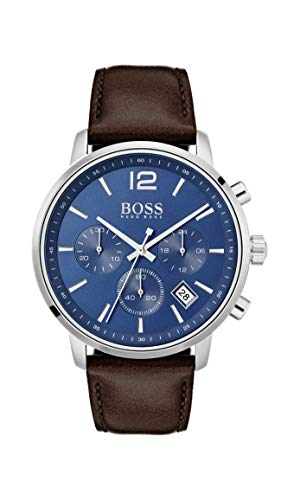 Hugo Boss Watch Reloj Cronógrafo para Hombre de Cuarzo con Correa en Cuero 1513606