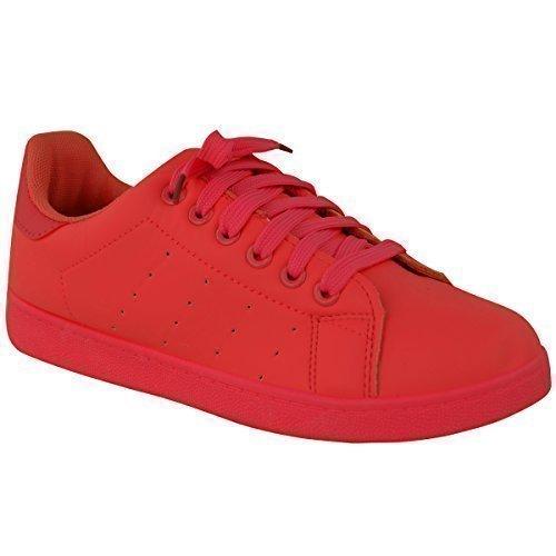 Mode Soif Femmes Avec Lacets Classique Tear-off Sport Chaussures Rétro Sport Sneakers Pompe Taille Rouge
