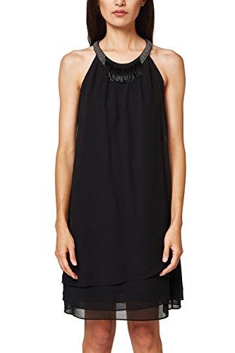 ESPRIT Collection Damen Kleid 048EO1E035, Schwarz (Black 001), 40