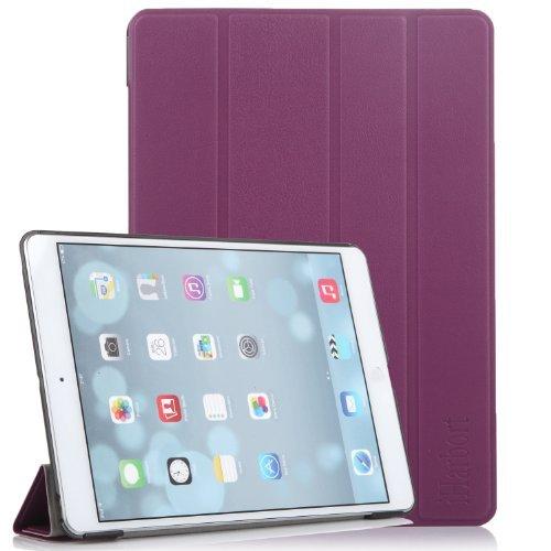 iHarbort® Premium iPad Air Hülle PU Leder Tasche Case Etui Sleeve Smart Cover Schutzhülle Hülle (Lila)