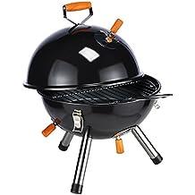 Parrilla redonda mini en negro parrilla de picnic parrilla de mesa camping parilla picnic - grill
