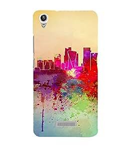 PrintVisa Colorful Modern Art Design 3D Hard Polycarbonate Designer Back Case Cover for LAVA PIXEL V1