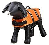 Haustier Weihnachtsgeschenk, Haustier-Schwimmweste im Freien Katze Hund Bademode Orange M