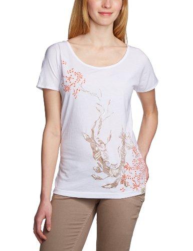 Timezone Damen T-Shirt Shortsleeve 12-0267, Rundhals Weiß (Pure White 100)