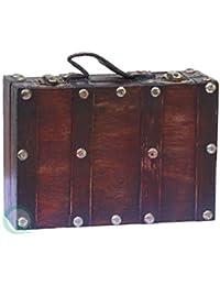 vintiquewise Antik Stil Koffer/Deko-Box, klein/Mini, Cherry