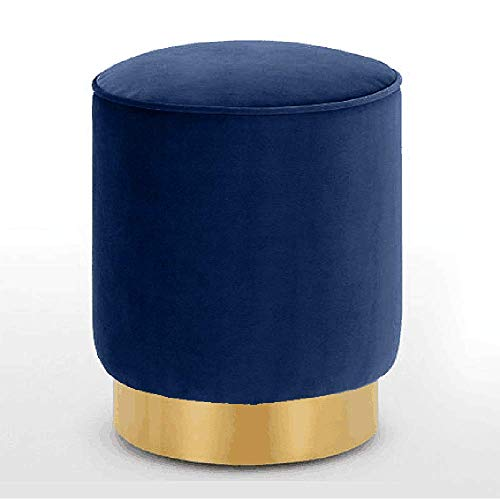 ZXQZ Hocker Nordic Stoff Runder Hocker Kreatives Sofa Hocker Makeup Hocker 4 Farben Optional (Farbe : Royal Blue, größe : 40x35cm)
