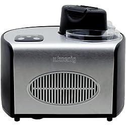Sorbetière Turbine à Glace Professionnelle HF250 H.Koenig-Machine à glace électrique 1.5L 150 W Réfrigérante & maintien du froid-Préparation rapide-Compresseur-yaourt glacé, sorbet et crème glacée
