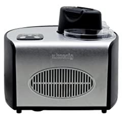Idea Regalo - H.Koenig HF250 Macchina per Gelati e Sorbetti, Gelatiera, 1.5L, Programmabile, Gruppo freddo integrato, Pronto in 40min, 150W