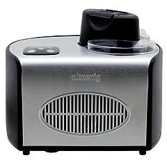 Idea Regalo - h.koenig HF250 gelatiera, 150 W, 1.5 Litri, Acciaio Inossidabile, Grigio