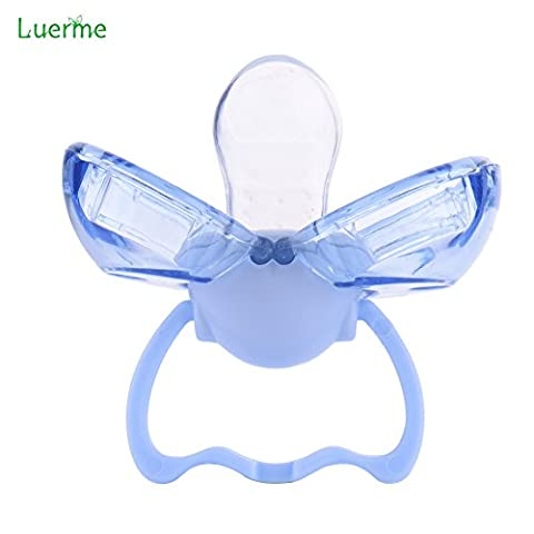 Luerme Dustproof Baby Infant Pacifier Soother with Automatic Closing Cover (Blue)